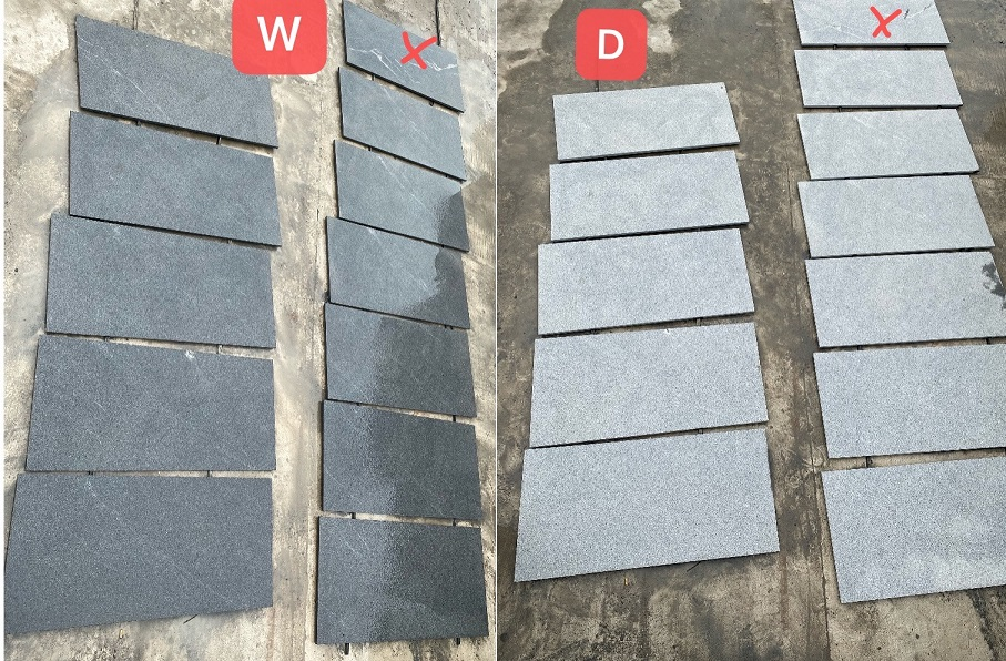 Dark Grey Granite Tiles Flamed