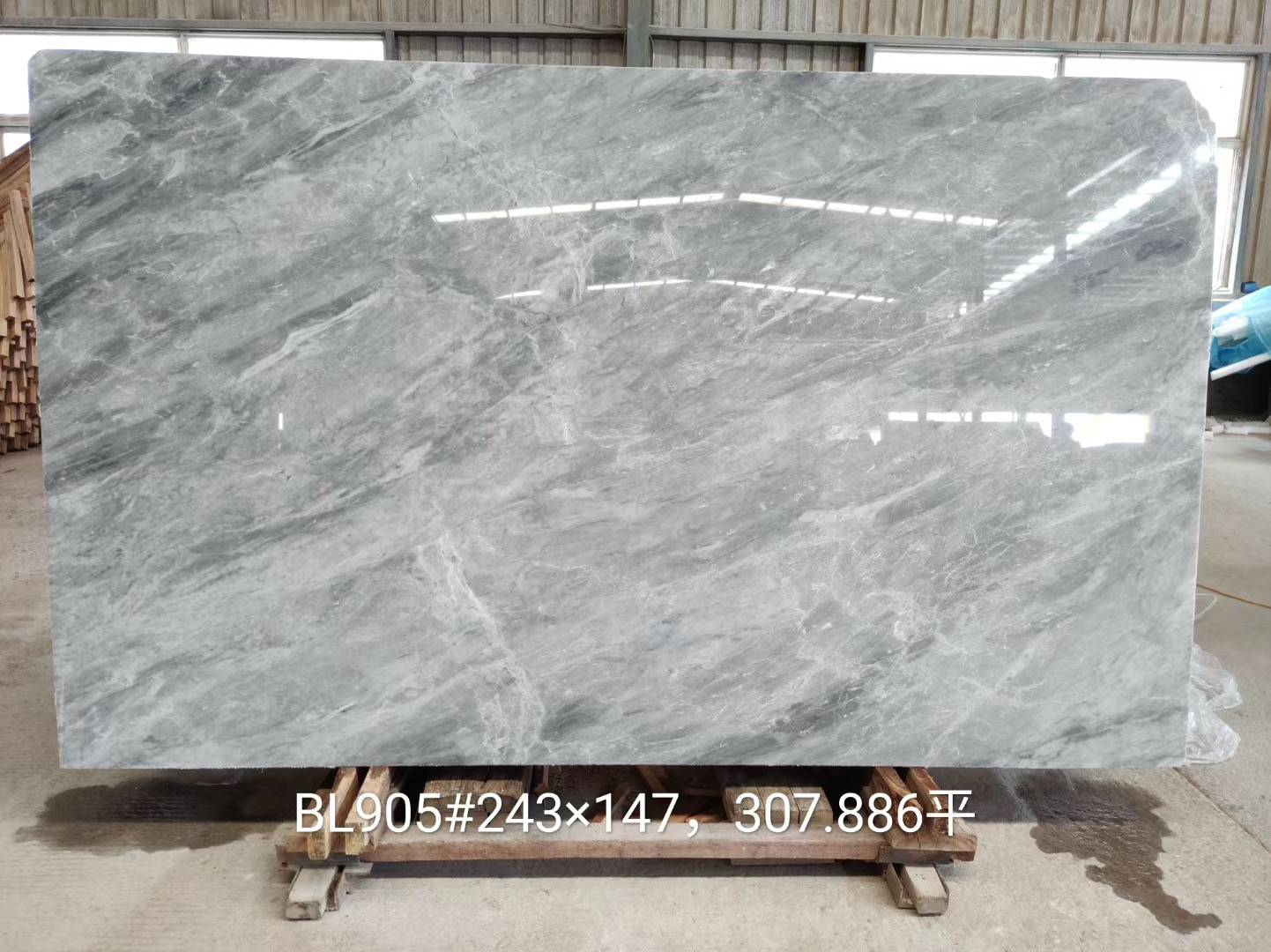 Italy Lapys Grey Marble Slabs