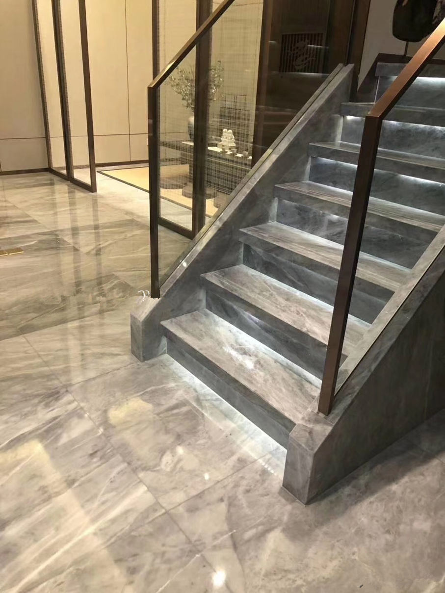 grey marble stairs