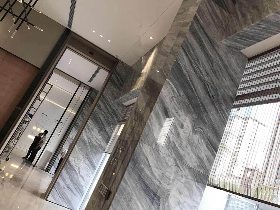 grey marble wall covering