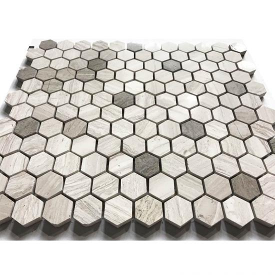 Hexagon Marble Mosaic tiles