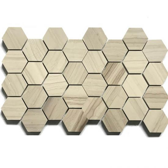 Wood Vein Marble Mosaic
